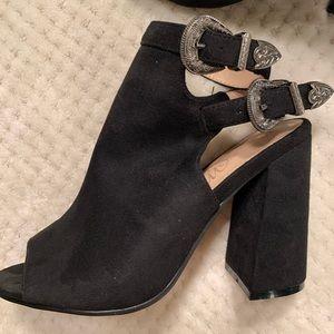 New bootie open toed heels